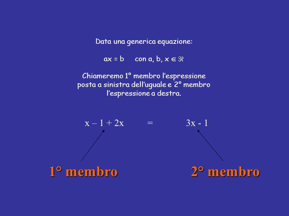 Data una generica equazione: