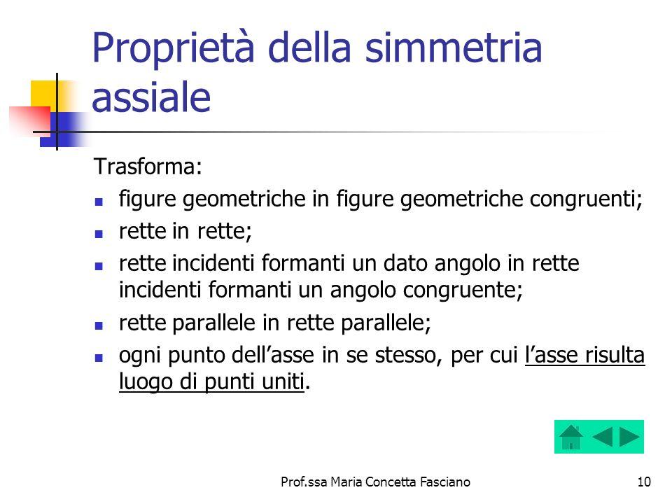 Proprietà della simmetria assiale