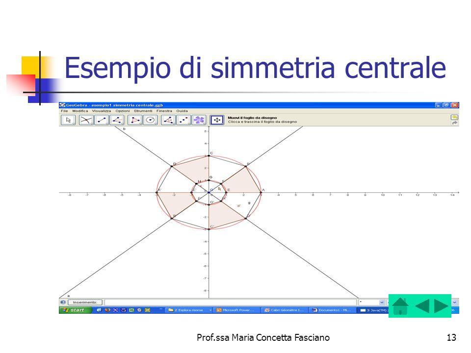 Esempio di simmetria centrale