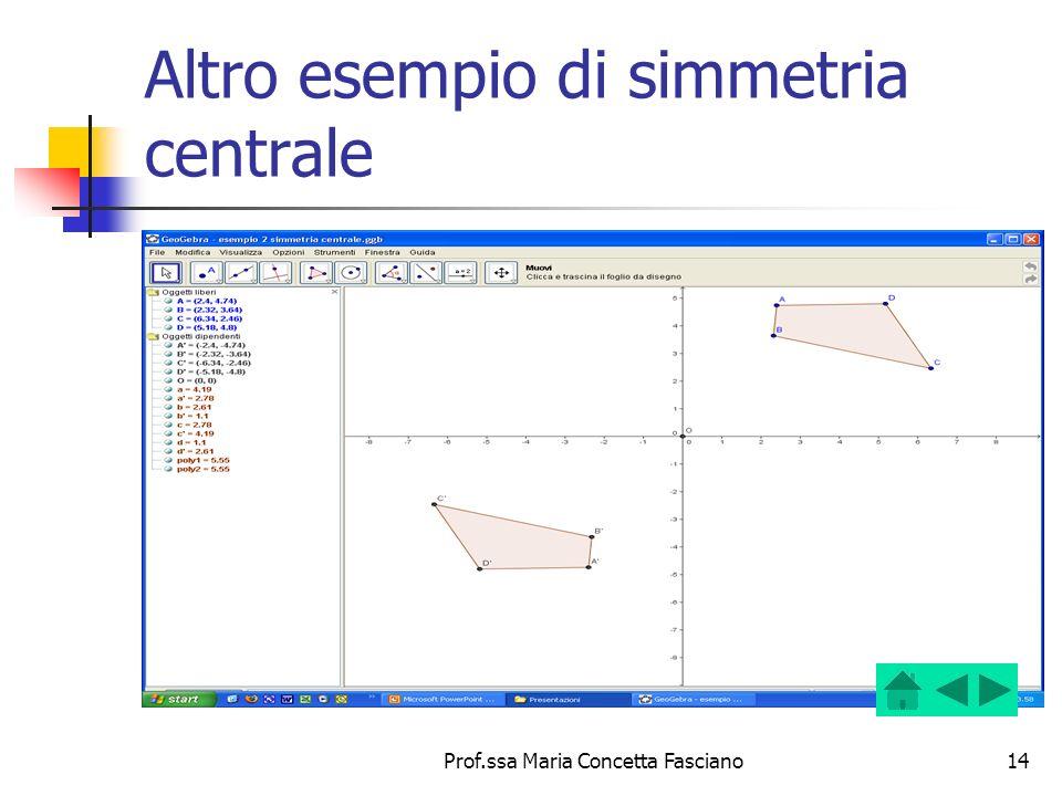 Altro esempio di simmetria centrale