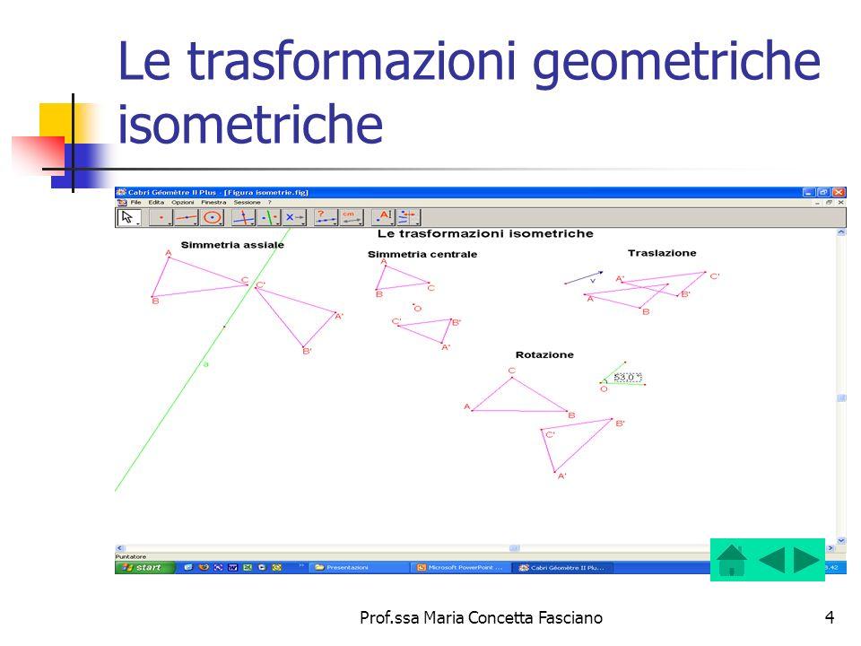 Le trasformazioni geometriche isometriche