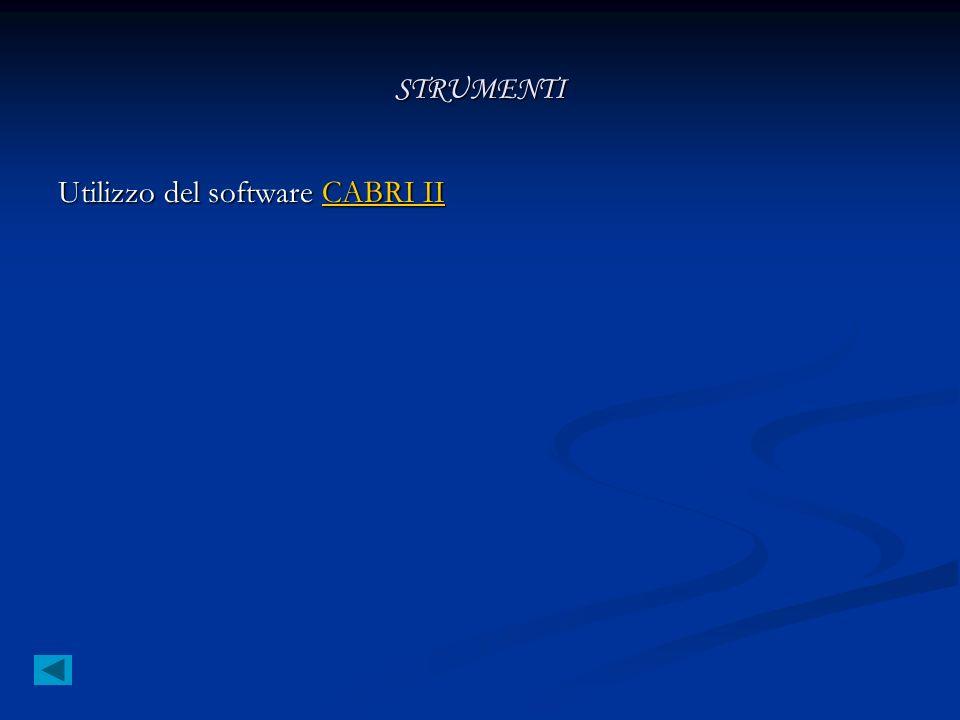 STRUMENTI Utilizzo del software CABRI II