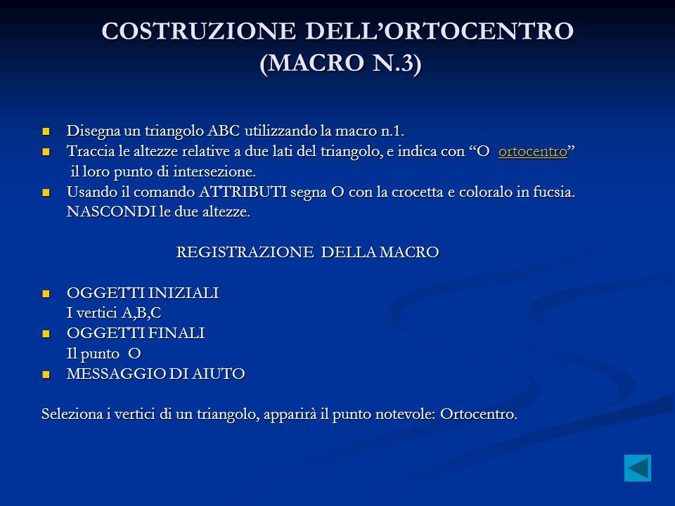 COSTRUZIONE DELL'ORTOCENTRO (MACRO N.3)
