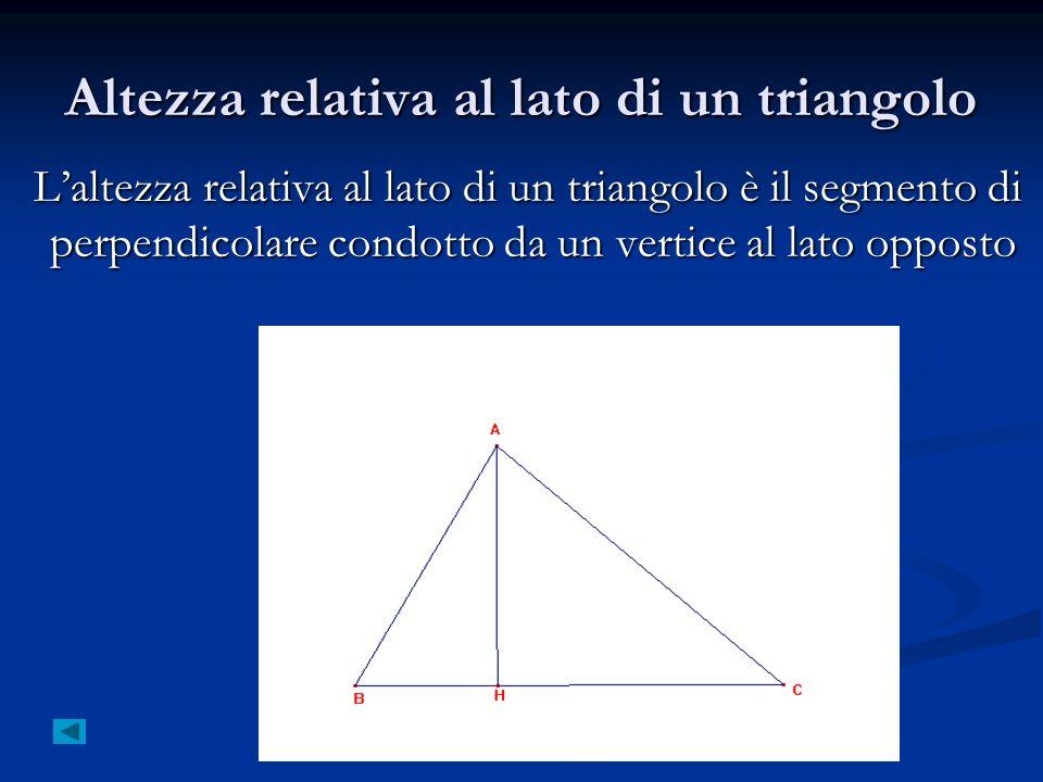 Altezza relativa al lato di un triangolo