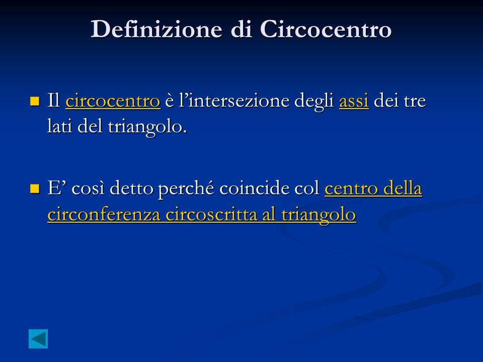 Definizione di Circocentro