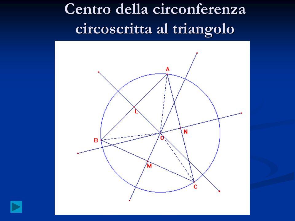 Centro della circonferenza circoscritta al triangolo