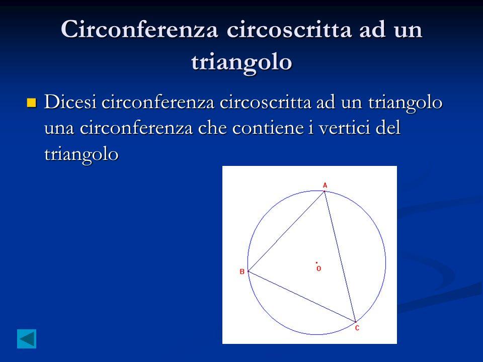 Circonferenza circoscritta ad un triangolo