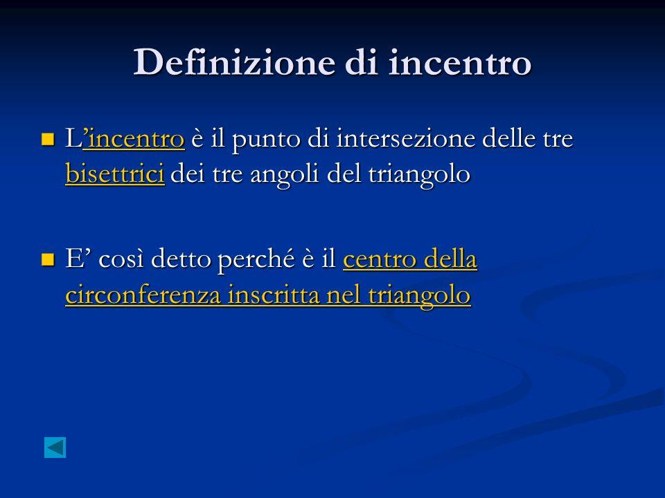 Definizione di incentro