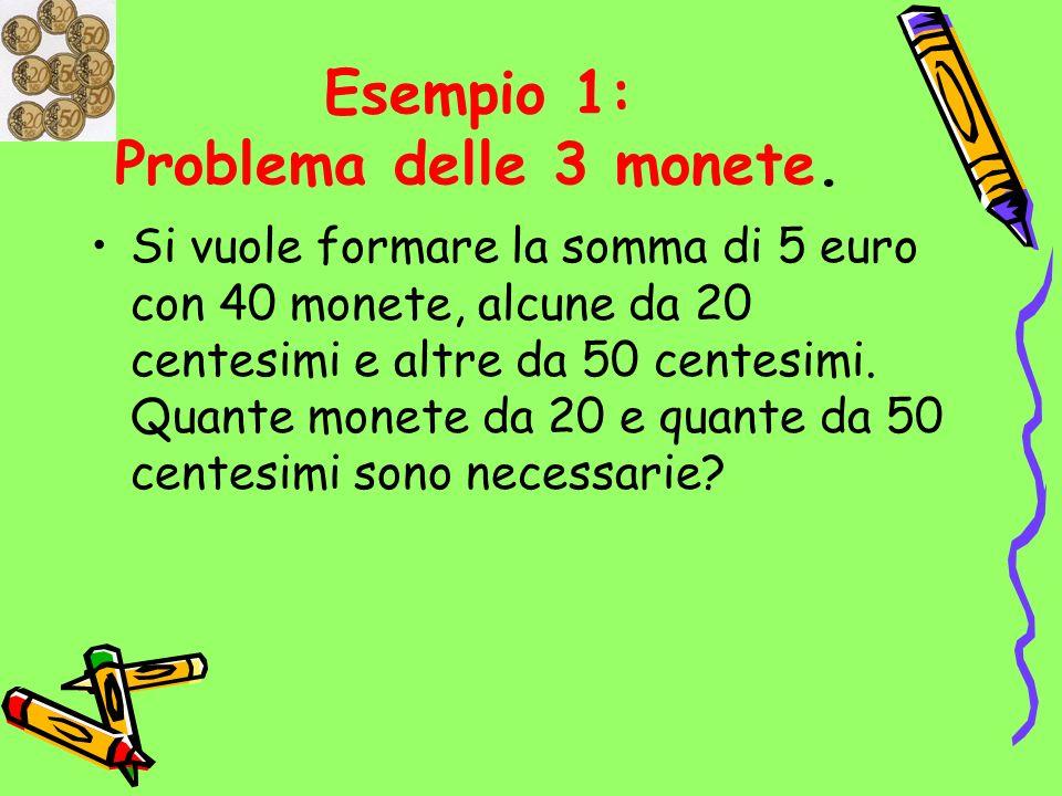 Esempio 1: Problema delle 3 monete.