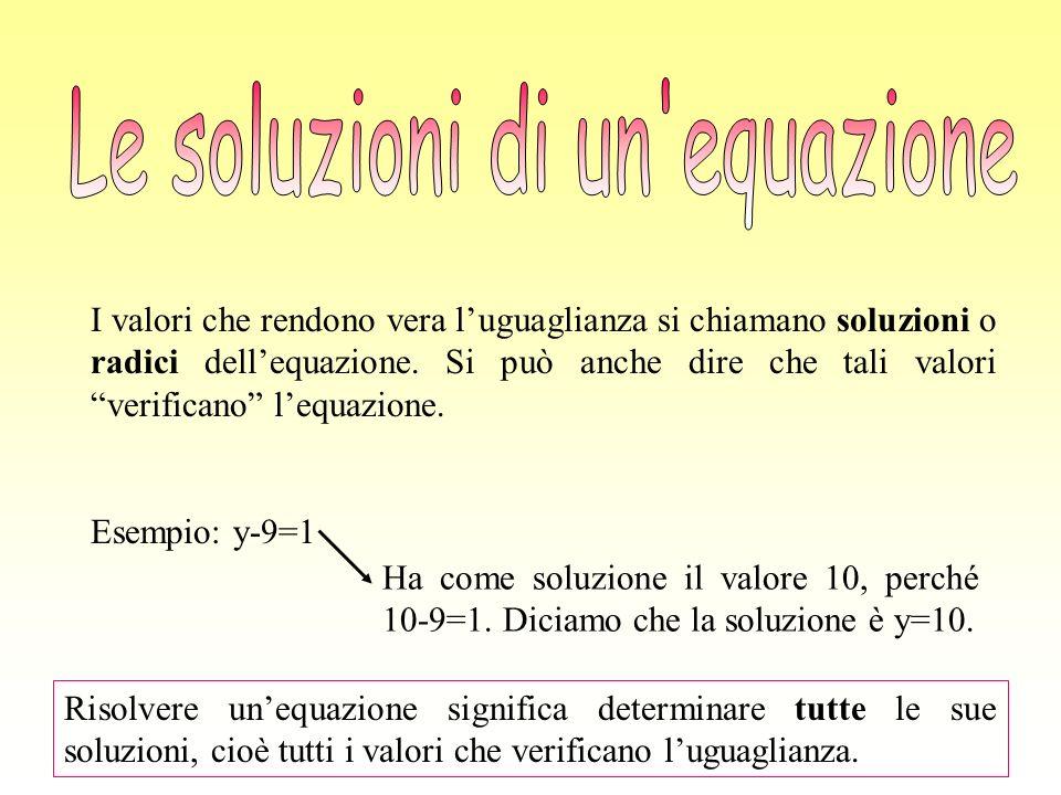 Le soluzioni di un equazione