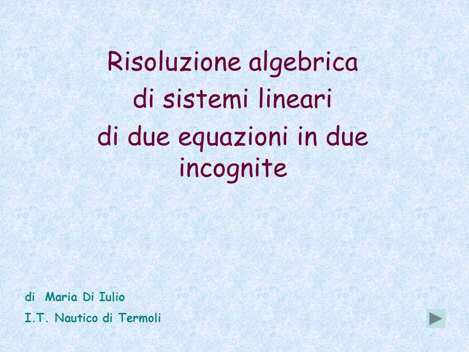 Risoluzione algebrica di sistemi lineari