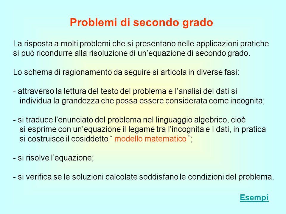 Problemi di secondo grado