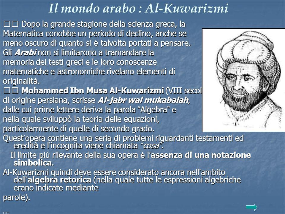 Il mondo arabo : Al-Kuwarizmi