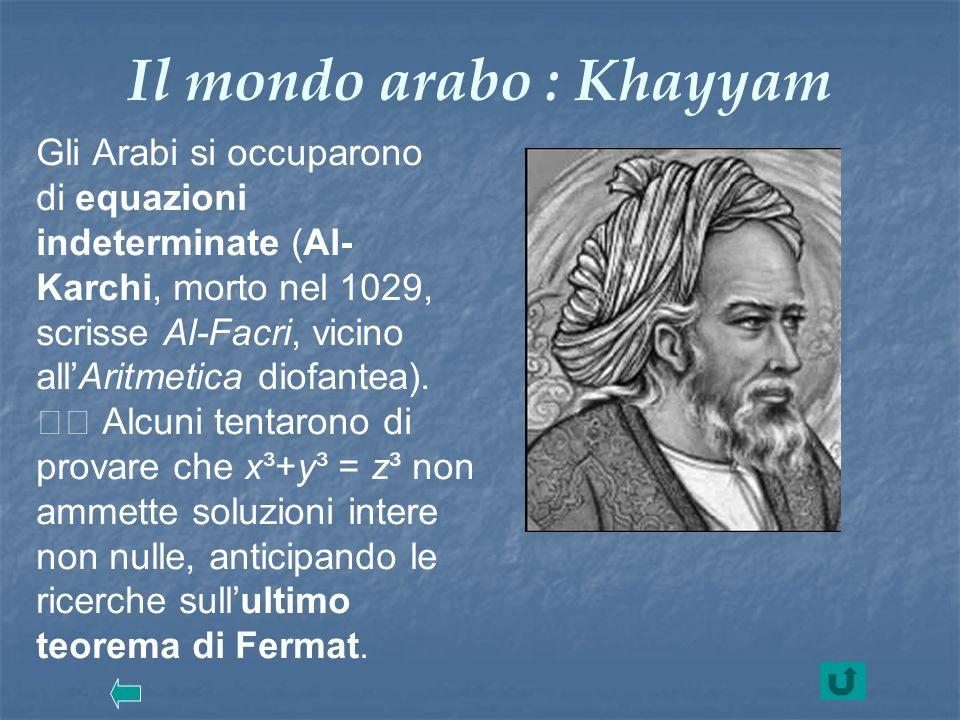 Il mondo arabo : Khayyam