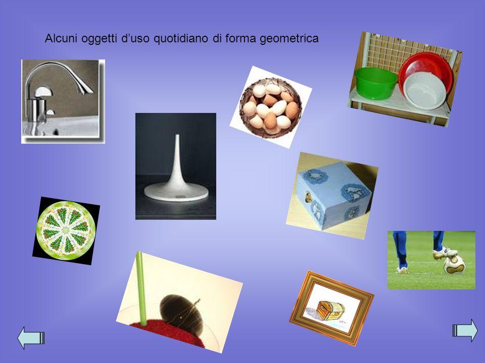 Alcuni oggetti d'uso quotidiano di forma geometrica