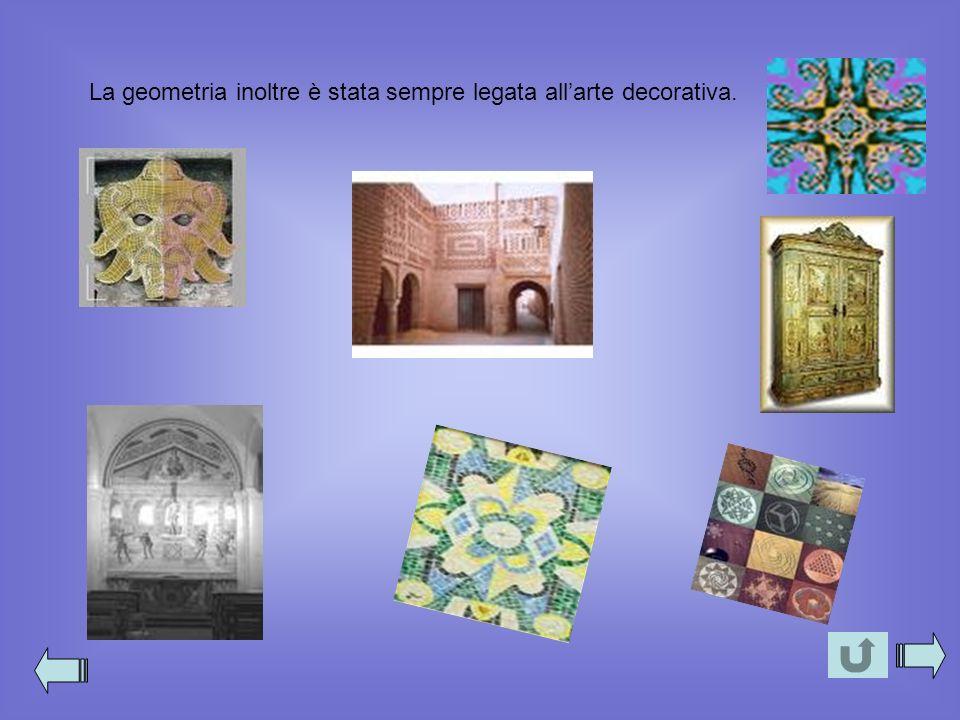 La geometria inoltre è stata sempre legata all'arte decorativa.