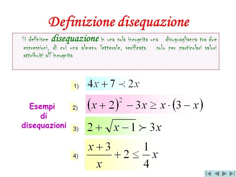 Definizione disequazione