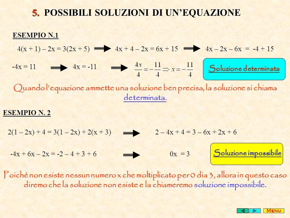 5. POSSIBILI SOLUZIONI DI UN'EQUAZIONE