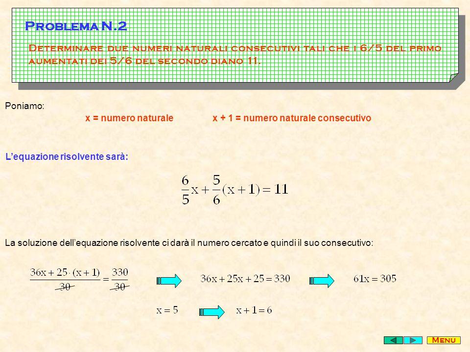 L'equazione risolvente sarà: