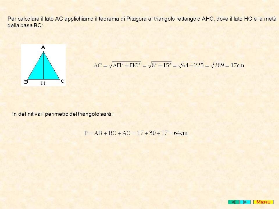 In definitiva il perimetro del triangolo sarà:
