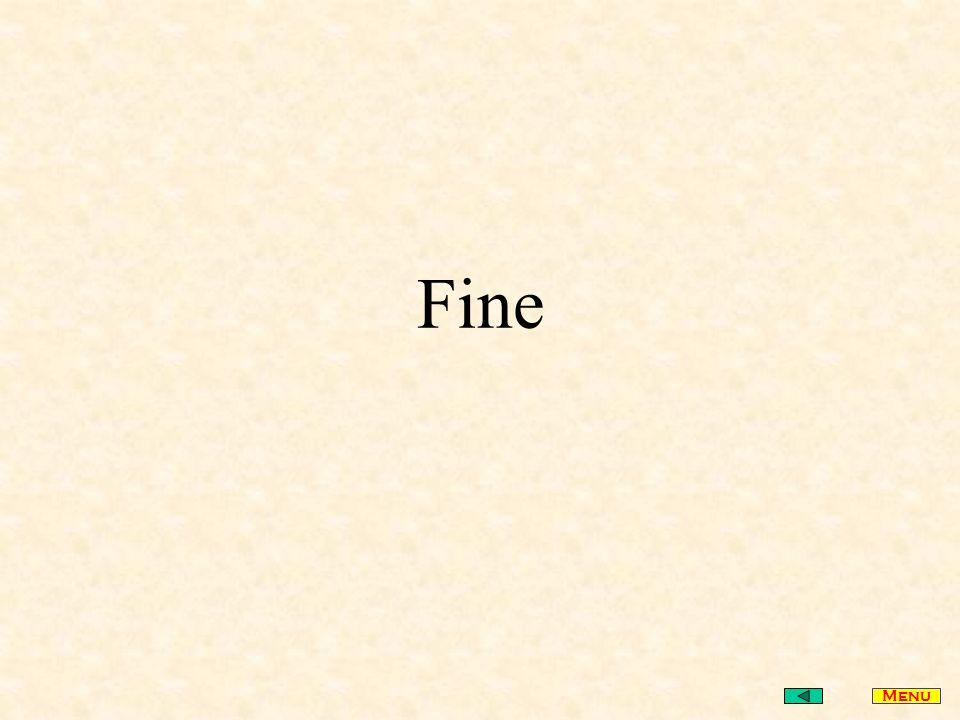 Fine Menu