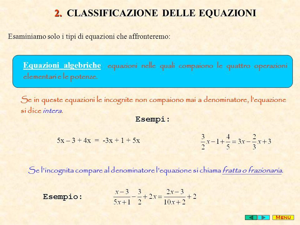 2. CLASSIFICAZIONE DELLE EQUAZIONI
