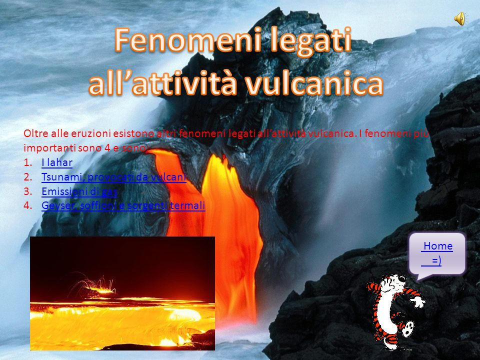 all'attività vulcanica