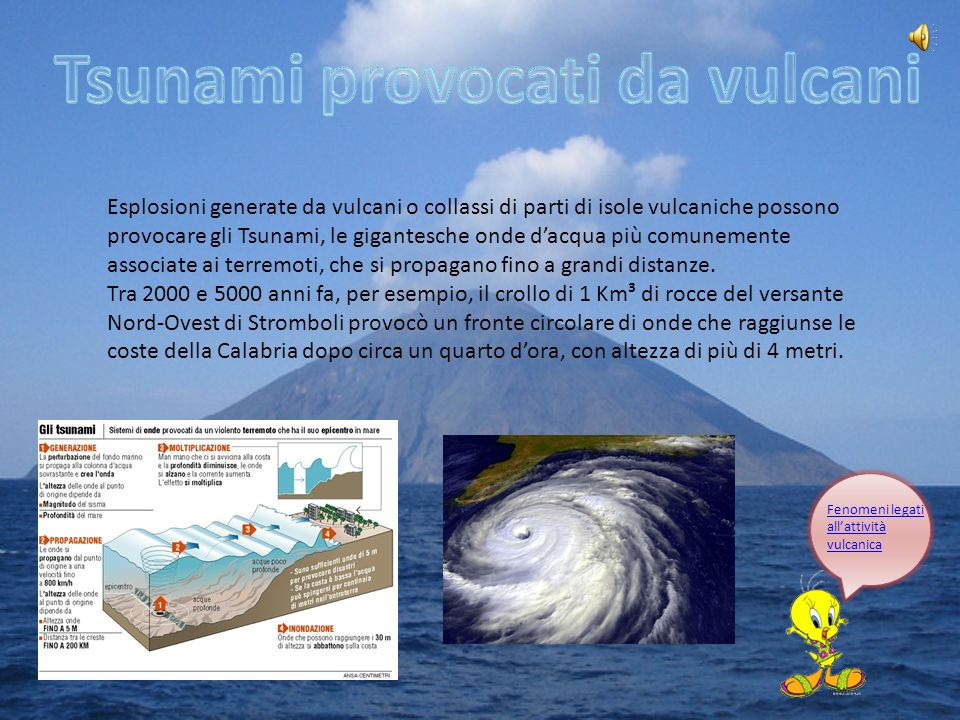 Tsunami provocati da vulcani