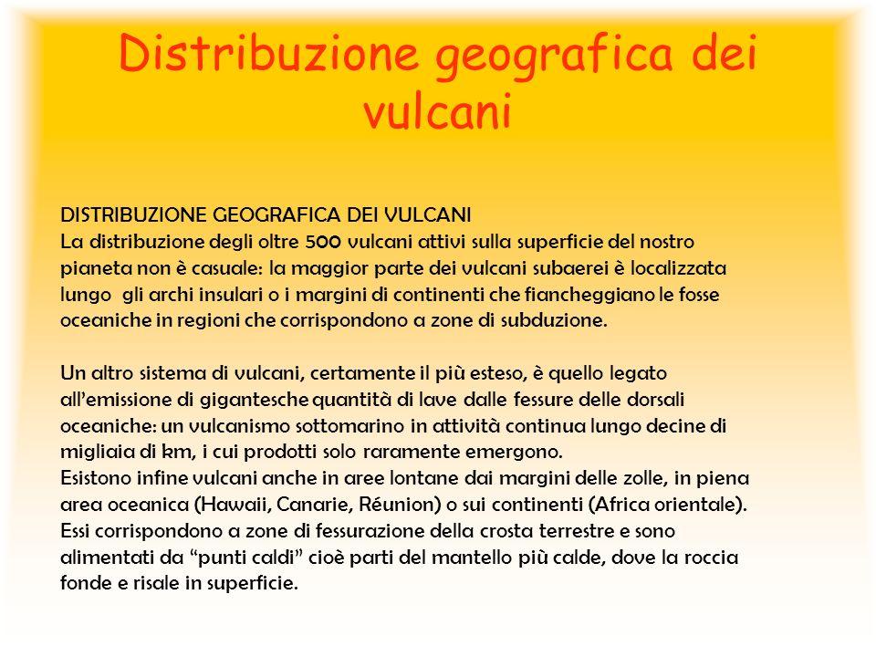 Distribuzione geografica dei vulcani