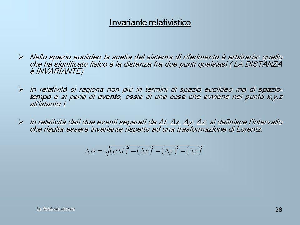 Invariante relativistico