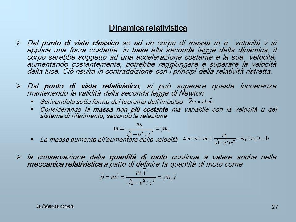 Dinamica relativistica