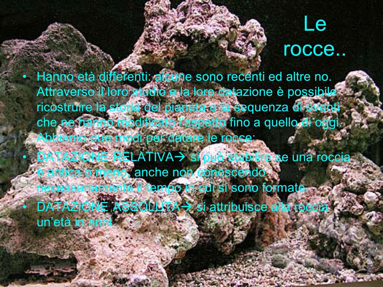 Le rocce..