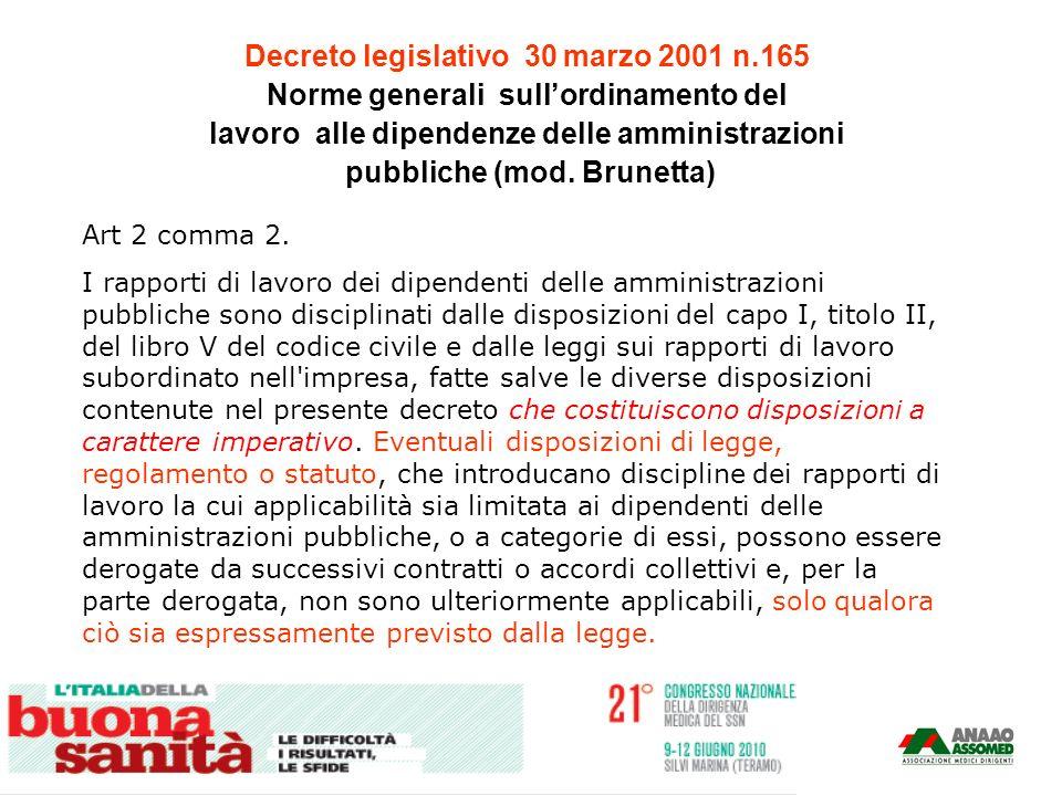 Decreto legislativo 30 marzo 2001 n.165