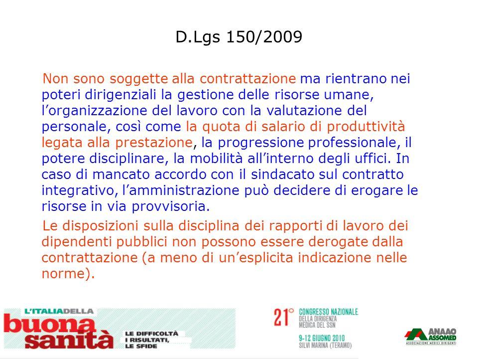 D.Lgs 150/2009