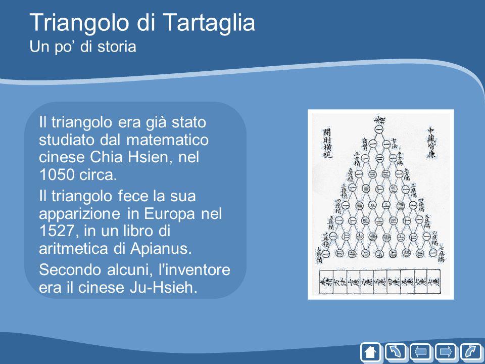 Triangolo di Tartaglia Un po' di storia