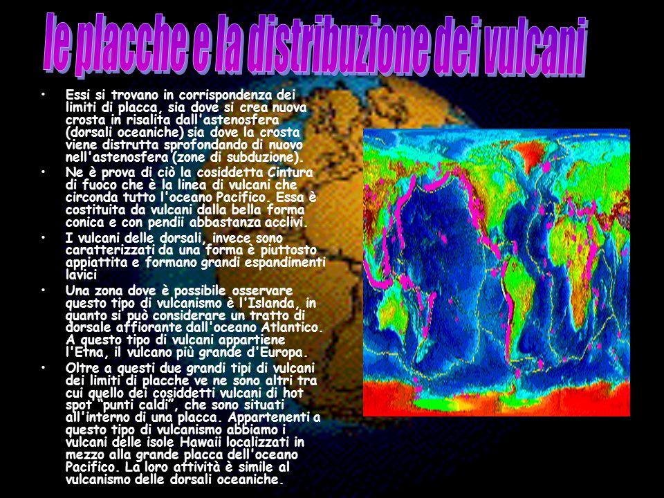 le placche e la distribuzione dei vulcani