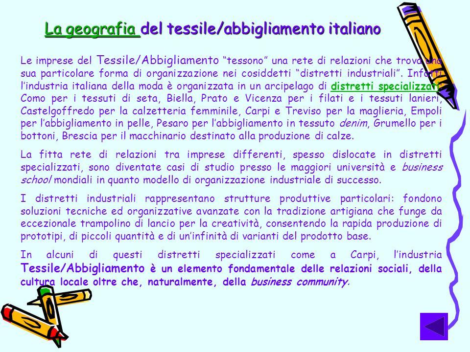 La geografia del tessile/abbigliamento italiano
