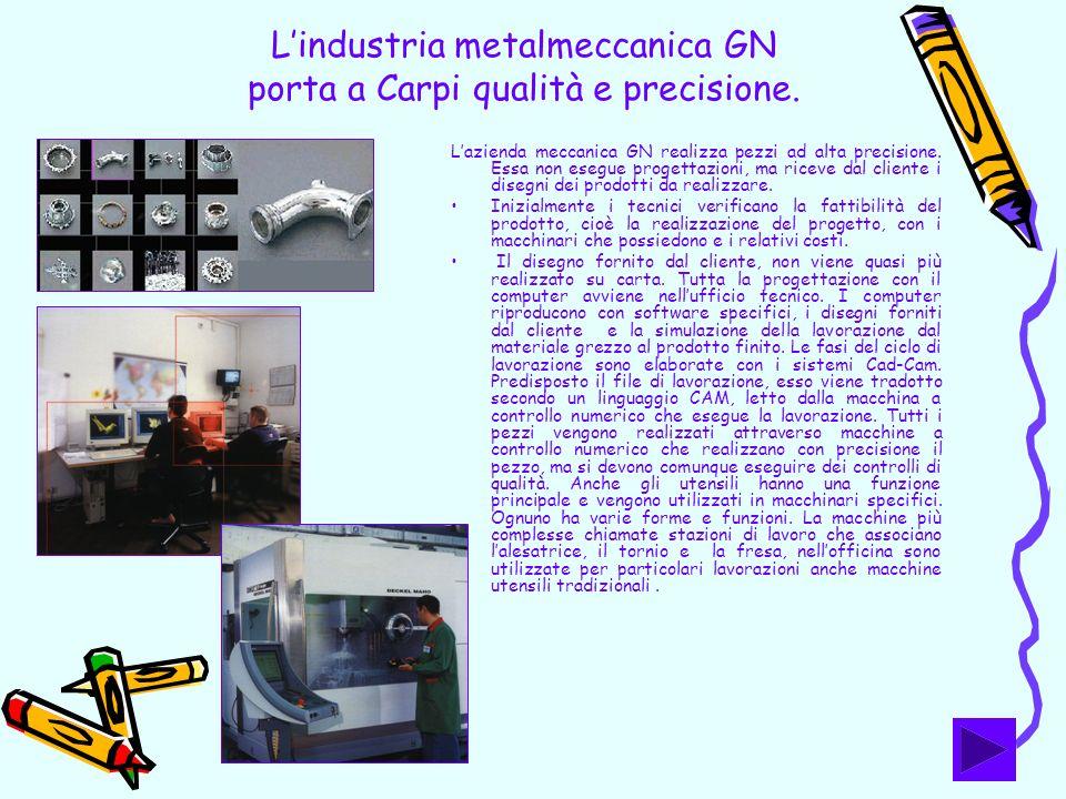 L'industria metalmeccanica GN porta a Carpi qualità e precisione.