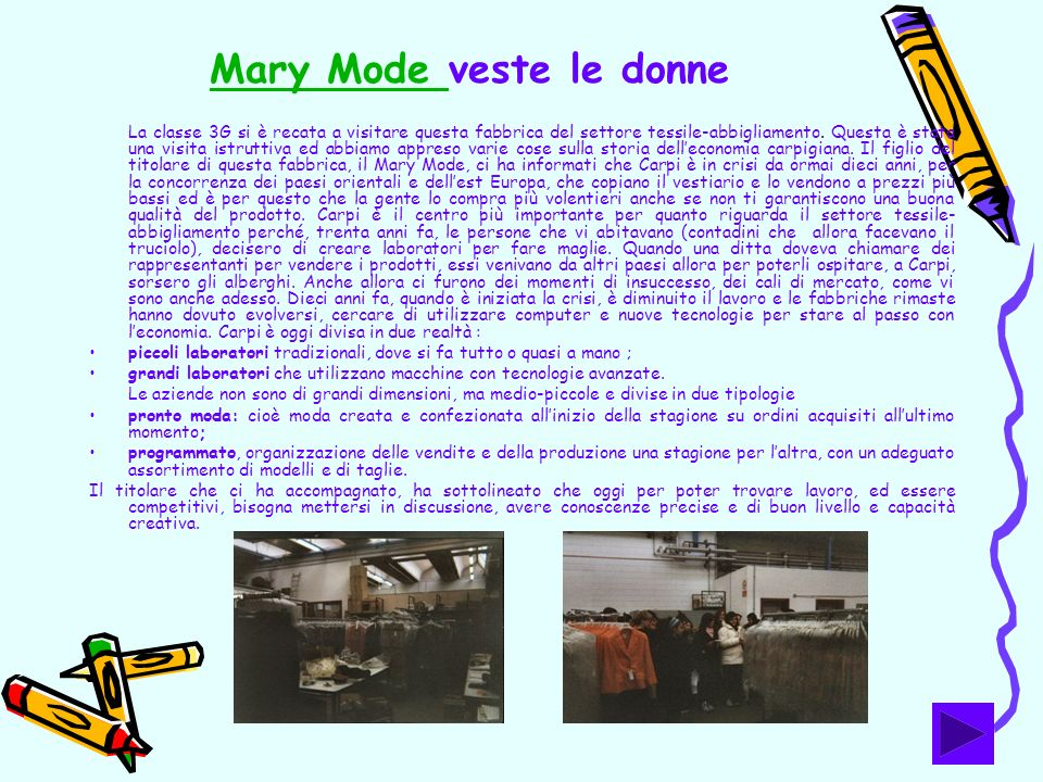 Mary Mode veste le donne