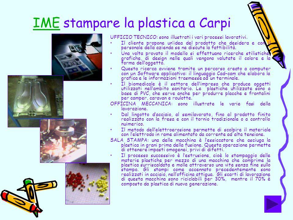 IME stampare la plastica a Carpi