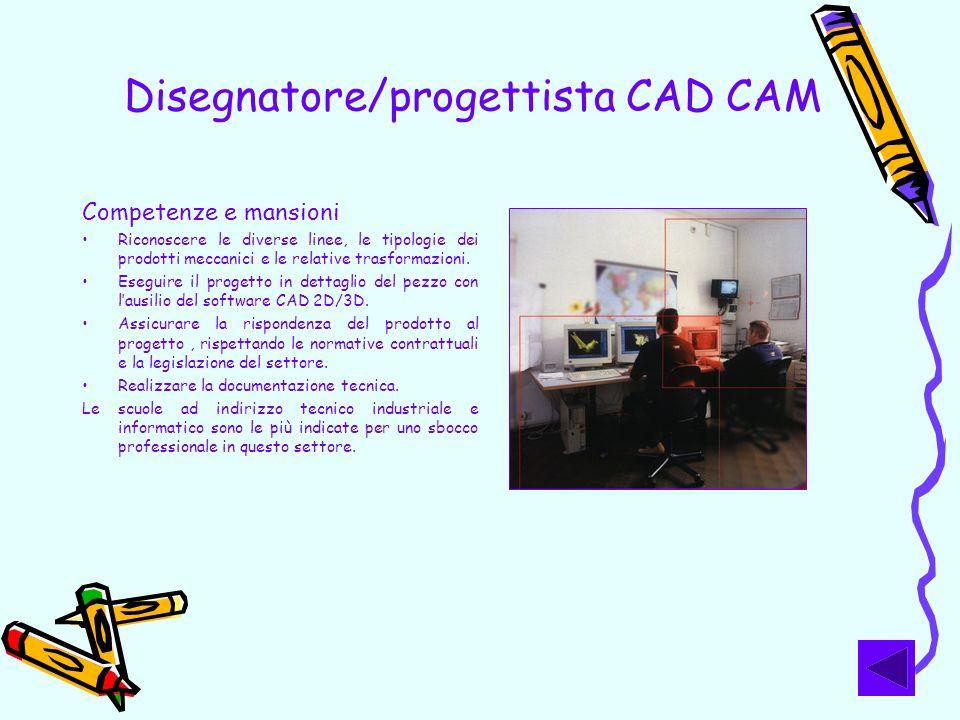Disegnatore/progettista CAD CAM