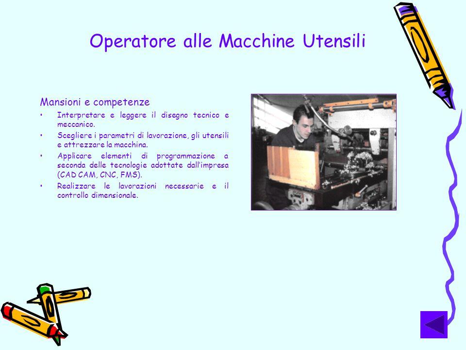 Operatore alle Macchine Utensili