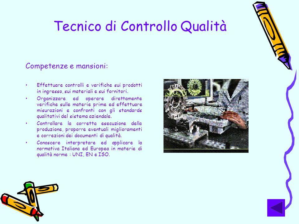 Tecnico di Controllo Qualità