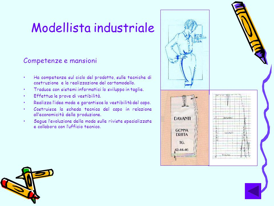 Modellista industriale