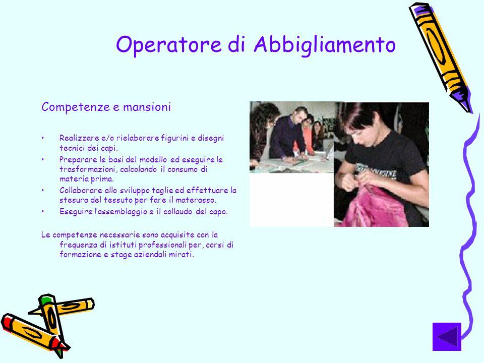 Operatore di Abbigliamento