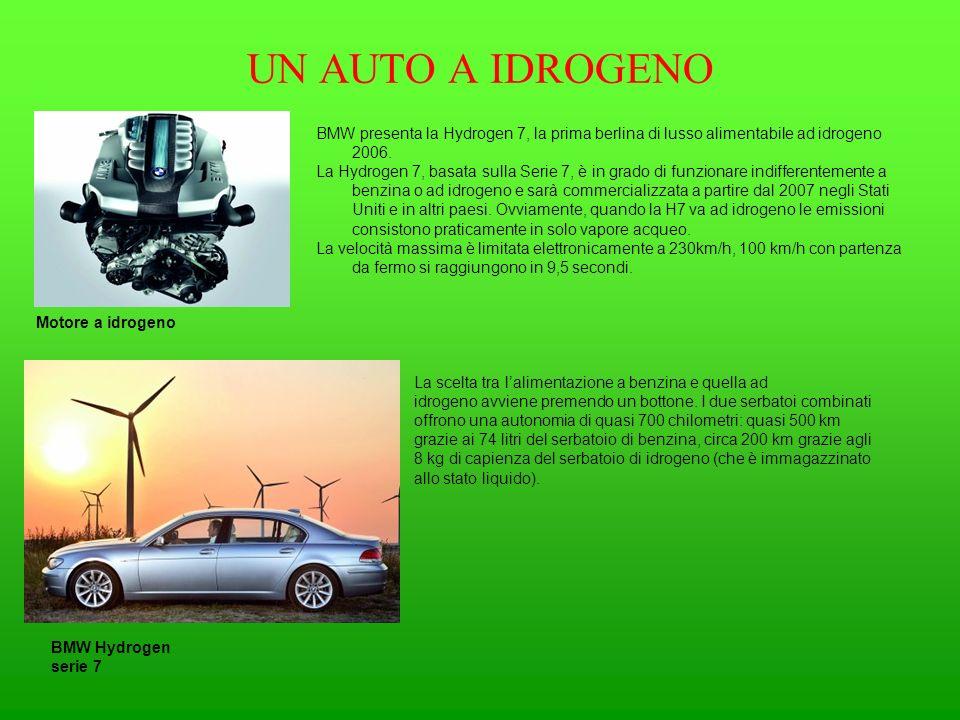 UN AUTO A IDROGENO BMW presenta la Hydrogen 7, la prima berlina di lusso alimentabile ad idrogeno 2006.