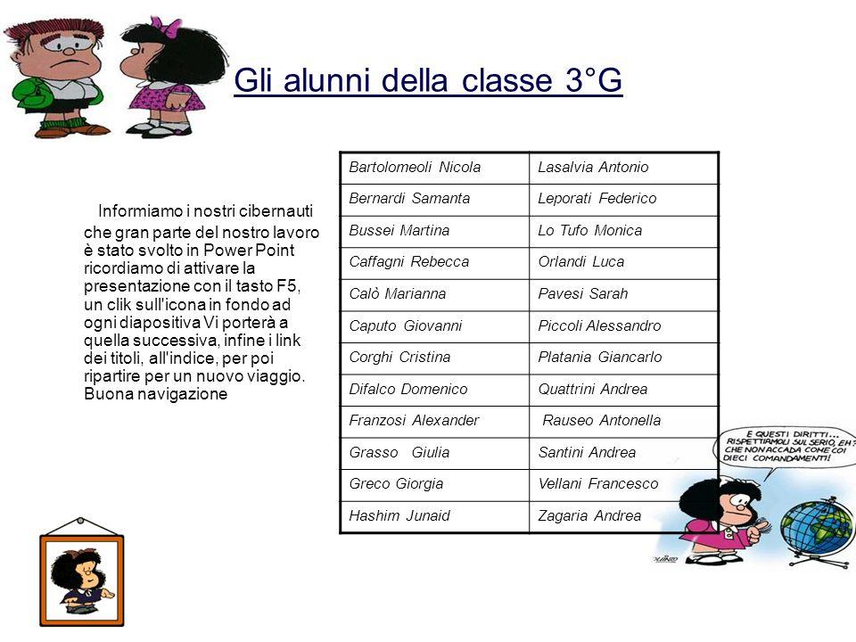 Gli alunni della classe 3°G