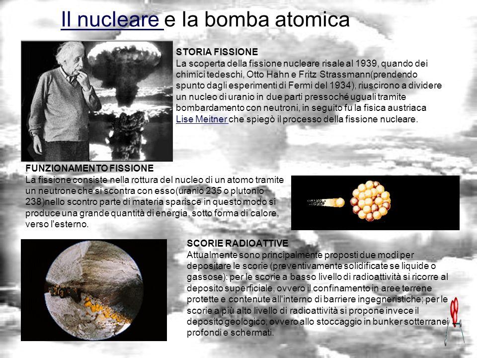 Il nucleare e la bomba atomica