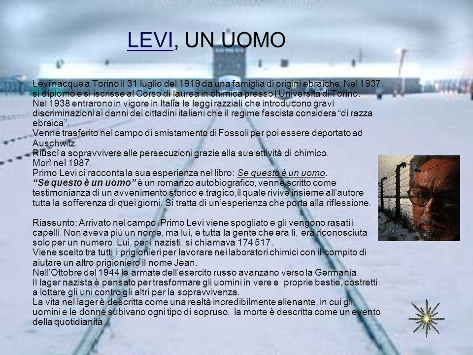 LEVI, UN UOMO
