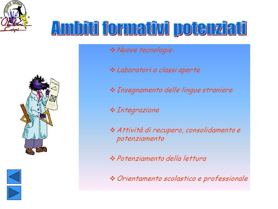 Ambiti formativi potenziati